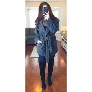 Ellen Tracy Grey Wool Pea Coat